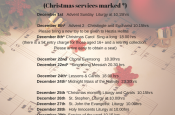 2019 Christmas services at St Paul's