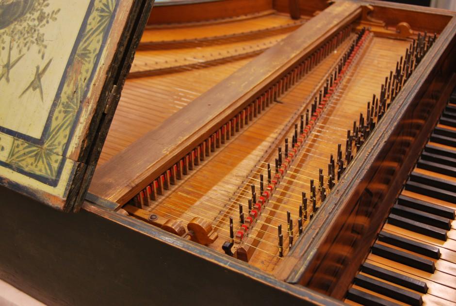 Harpsichord detail