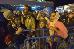 Hoping for a better future: migrants arriving at the port of Piraeus (c) 2014 Paul Jeffrey