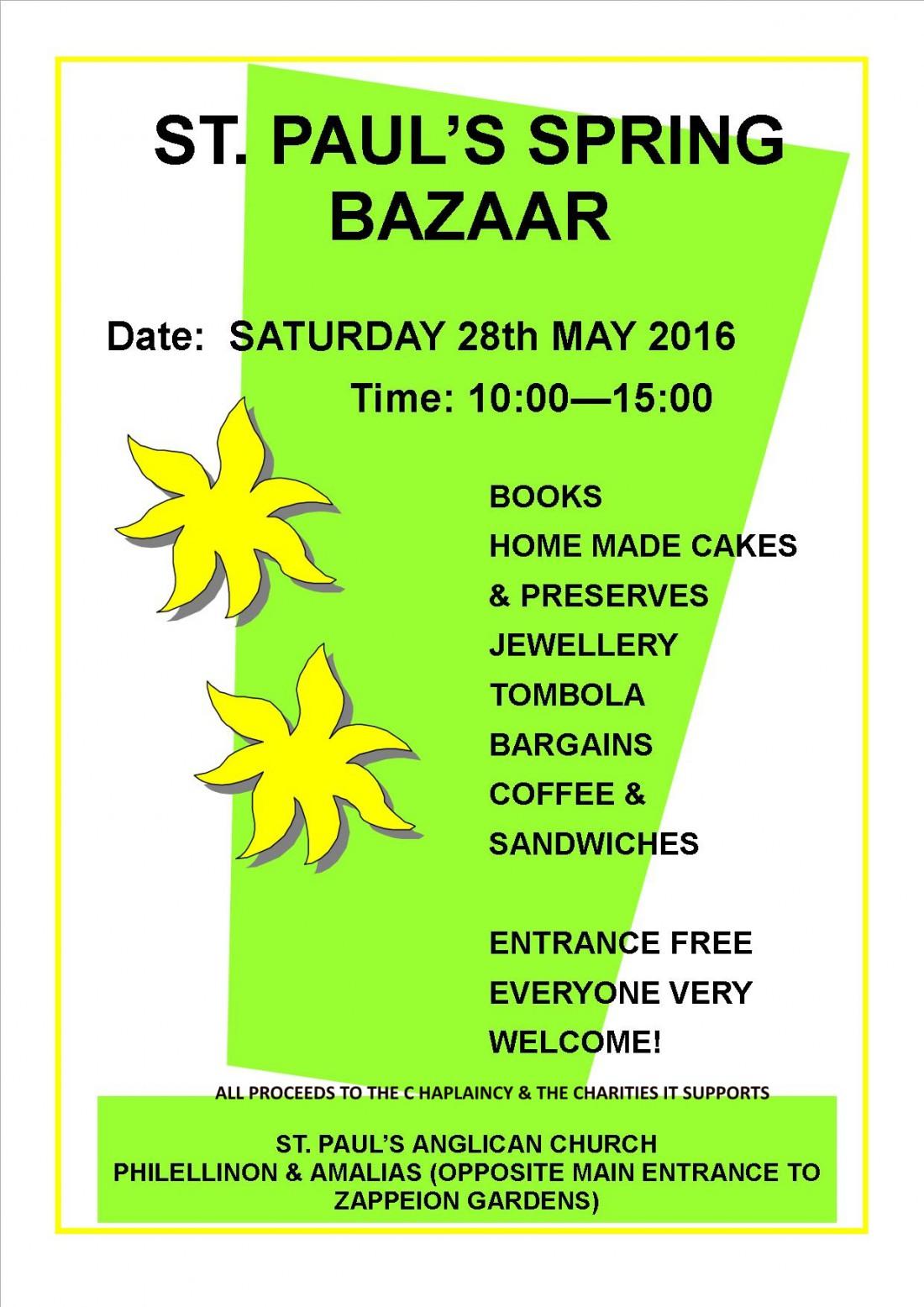 SPRING Bazaar poster 2016