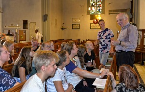 Visiting Scandinavians at St. Paul's (seated in pews)