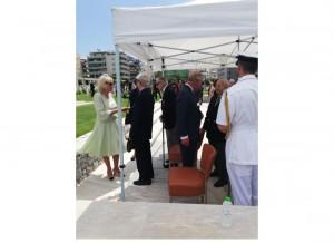 The Royal couple met Veterens