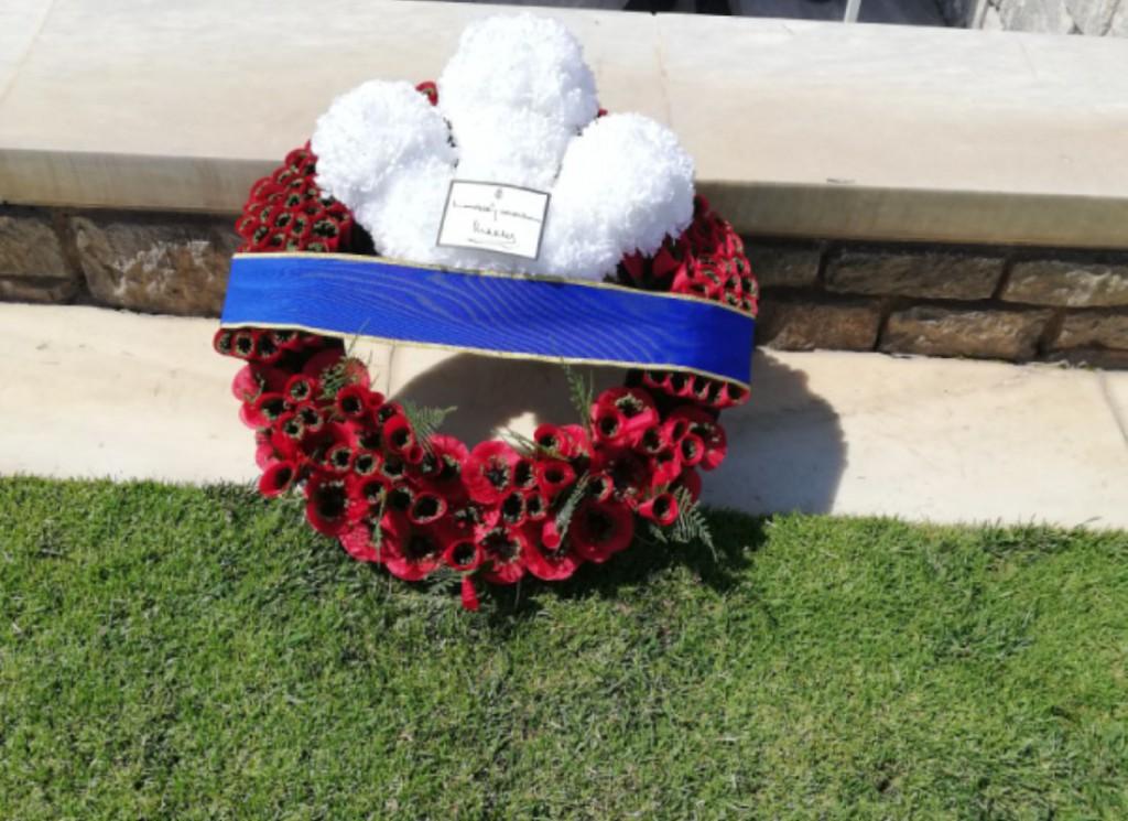 Prince Charles laid a wreath