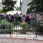 Bunting makes a colourful display