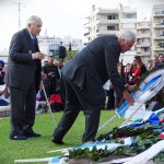 Members of the Greek Sacred Squadron lay a wreath in memory of their colleagues