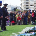 Representatives of the Sikh Community lay a wreath