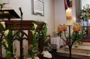 Flowers on the Pulpit