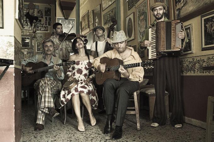 """Gadjo Dilo, the """"Greek-flavoured gypsy jazz"""" sextet"""